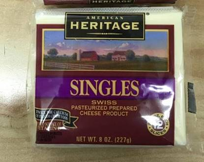 Picture of Heritage Sliced Cheese White  ( 227 GM * 12 Piece  )