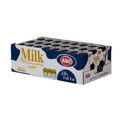 Picture of ABC Full Cream Plain Milk 225 Ml  × 24 Pc