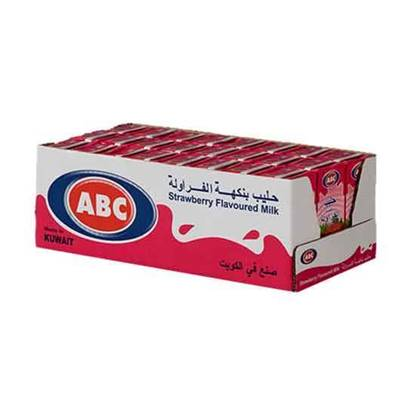 Picture of ABC Flavored Strawberry Milk 185 ML × 24 PC