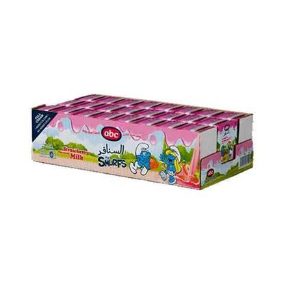 Picture of ABC Smurf Strawberry Milk 135 ML × 24 PC