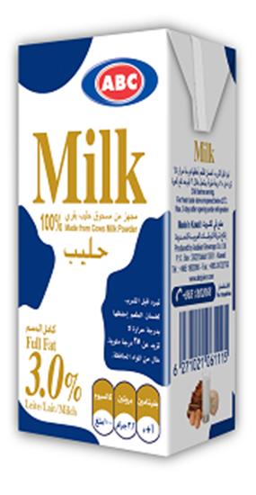 Picture of ABC Full Cream Plain Milk 185 Ml × 24 Pc