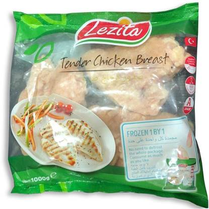 Picture of Lezita Chicken Tender Breast - IQF(1000 GM * 10 Pieces )