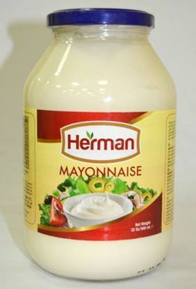 Picture of Herman Mayonnaise Regular HDPE, Gallon ( 4 Pieces *  1 Gallon  )