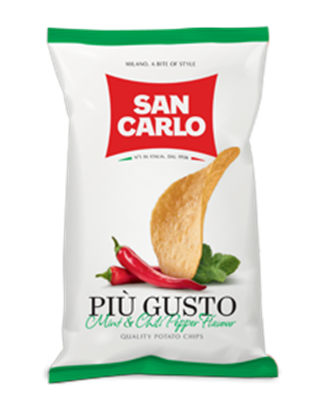 Picture of San Carlo Potato Chips Mint & Chili  ( 50 GM * 20 Pouch )