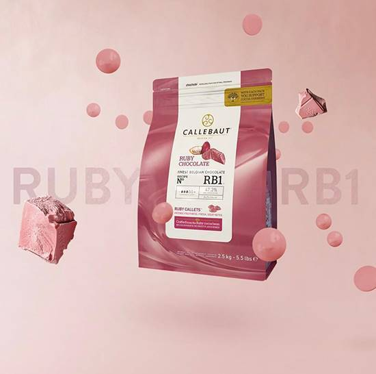 Picture of Callebaut Ruby Chocolate (  2.500  KG * 1 Pouch )