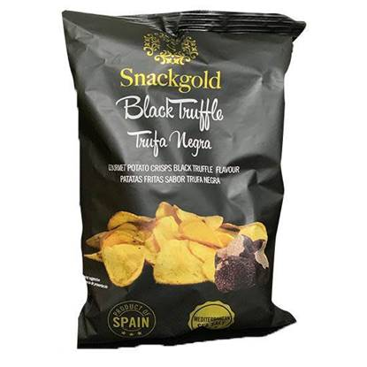 Picture of Snackgold Gourmet Black Truffle Potato Chips 125 GM