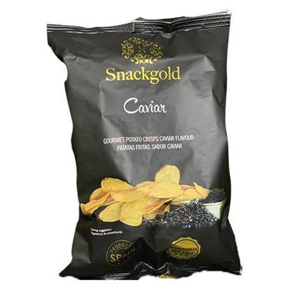 Picture of Snackgold Gourmet Caviar Potato Chips  125 GM