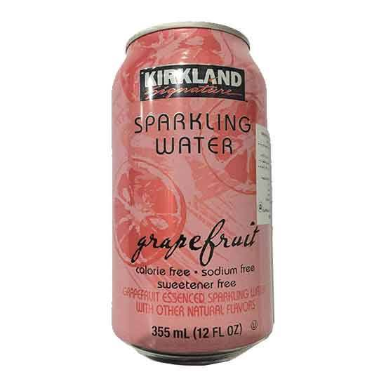 Picture of KIRKLAND CANNED SPARKLING WATER GRAPFRUIT 502.8 ML
