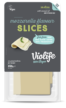 Picture of VIOLIFE DAIRY FREE MOZZARELLA FLAVOUR SLICES 200 GM VEGAN