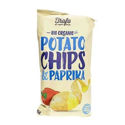 Picture of TRAFO ORGANIC POTATO CHIPS PAPRIKA 125 GM