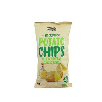 Picture of TRAFO ORGANIC POTATO CHIPS SALT& VINEGAR 125 GM