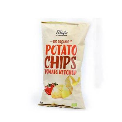 Picture of TRAFO ORGANIC POTATO CHIPS TOMATO KETCHUP 125 GM