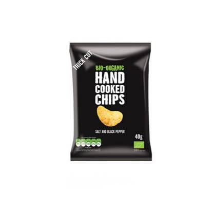 Picture of TRAFO ORGANIC HAND COOKED CHIPS SALT AND PEPPER 125 GM