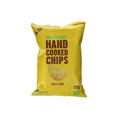 Picture of TRAFO ORGANIC HANDCOOKED CHIPS CHEESE ONION 125 GM