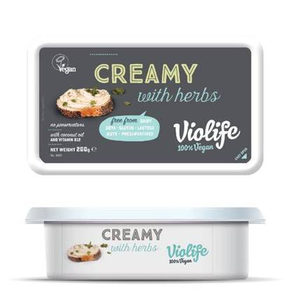 Picture of VIOLIFE DAIRY FREE CREAMY SPREAD W/ HERBS 200G VEGAN