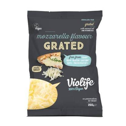 Picture of VIOLIFE DAIRY FREE GRATED MOZARELLA FLAVOUR 200G VEGAN