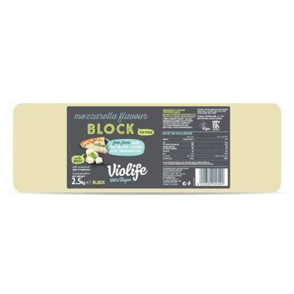 Picture of VIOLIFE DAIRY FREE 100% VEGAN MOZZARELLA FLAVOUR BLOCK 2.5KG