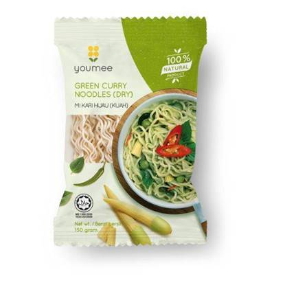 Picture of YOUMEE PENANG GREEN CURRY NOODLES 100% NATURAL NO MSG 150 GM