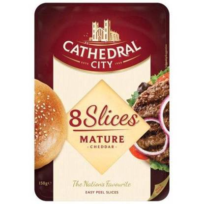 Picture of CATHEDRAL CITY SLICED MATURE CHEDDAR 150G