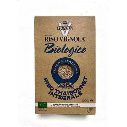 Picture of RISO VIGNOLA THAIBONNET INTEGRALE ORGANIC ROUND BROWN RICE 1000 GM