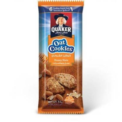 Picture of Quaker Oat Cookies Honey & Nuts 54 GM