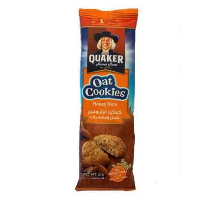 Picture of Quaker Oat Cookies Honey & Nuts 27 GM