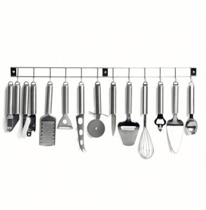Picture of Set of 12  Kitchen Tools on a Rack