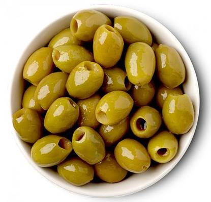 Picture of Green Olives  Whole Without Seeds Tin-12 KG