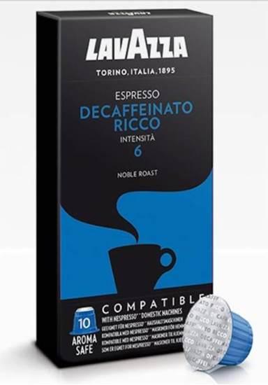 صورة لافازا كبسولة قهوه بدون كافيين ريكو