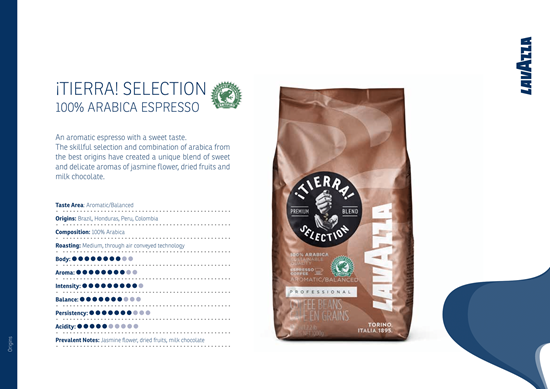 Picture of  LAVAZZA TIERRA COFFEE BEANS