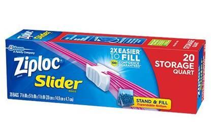 Picture of Ziploc Slider Storage Medium 20 bags