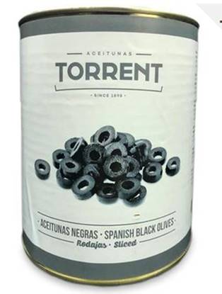 Picture of torrent Black olive slice spain 3kg*6
