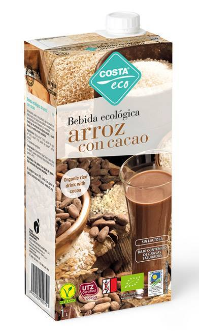 Picture of COSTA ECO ORGANIC RICE MILK WITH COCOA 1LTR