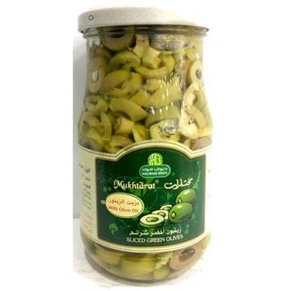 Picture of HALWANI SLICED GREEN OLIVES 650 GMS