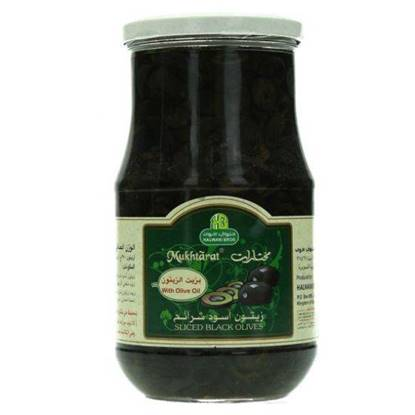 Picture of HALWANI SLICED BLACK OLIVES 650 GMS