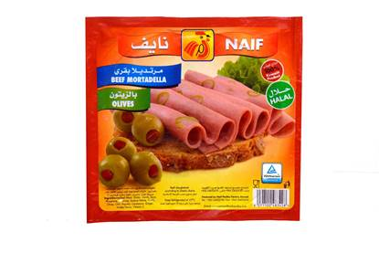 Picture of Naif Beef Mortadella with Olives  (150 GM * 1 Pouch )