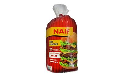 Picture of Naif Frozen Beef Burger ( 1 KG * 1 Pouch )