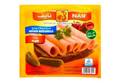 Picture of Naif Plain Chcicken Mortadella Slices (150 GM * 1 Pouch )