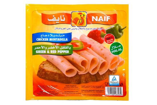 Picture of Naif Red & Green Pepper Chcicken Mortadella Slices (150 GM * 1 Pouch )