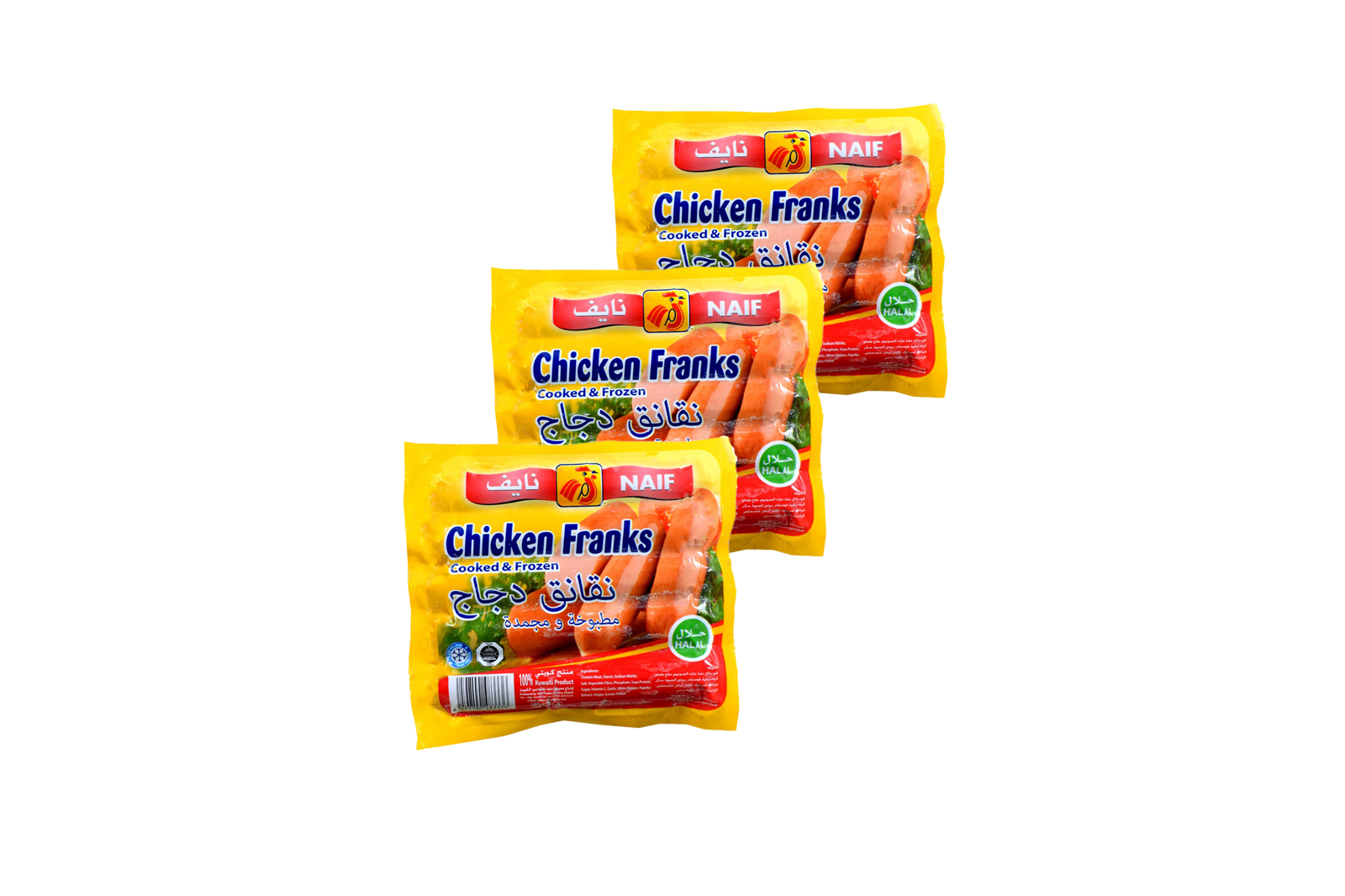 Picture of Naif Frozen Chicken Frankfurters ( 340 GM * 3 Pack )