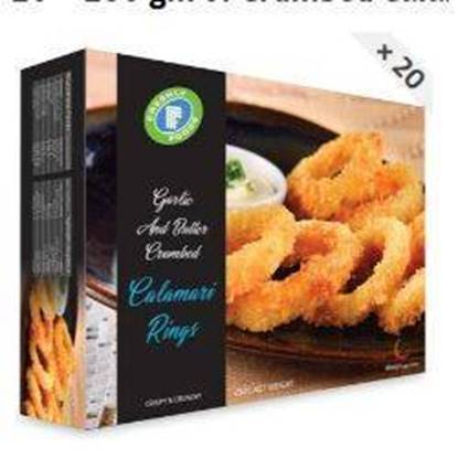 Picture of Calamari Rings Garlic Butter Crumbed Freshly 250 g
