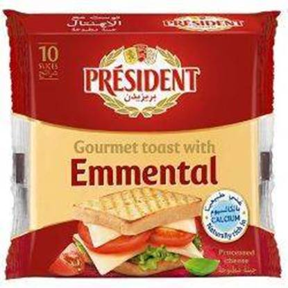 Picture of President SLICED Cheese  Emmental PACK 220gm*14