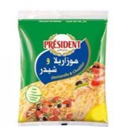 Picture of President Shredded (Mozarella+Cheddar)450gm*8