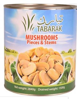 Picture of Tabarak Canned Mushroom Pieces & Stems 2.840kg*6