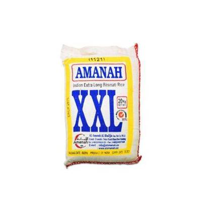 الصورة: Amanah XXL Rice Basmati Long Grain 20kg*2