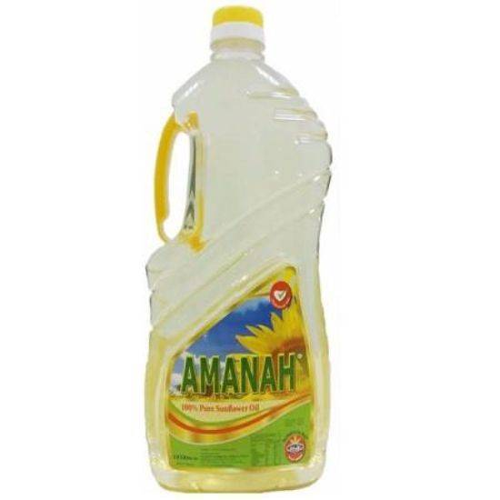 Picture of Amanah Sunflower Cooking Oil 1.8Ltr*6