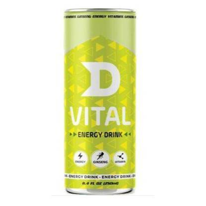 الصورة: D Vital Energy Drink with Ginseng + Vitamins 250ML*24