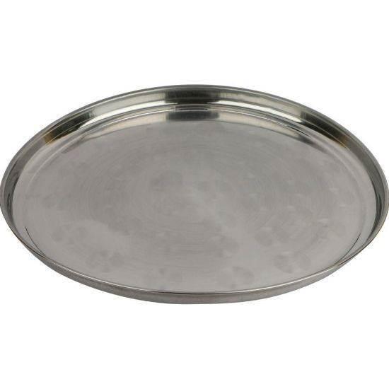 صورة Akram High quality stainless-steel rice plates 35 cm 6 Pieces