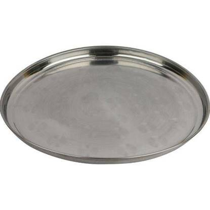 الصورة: Akram High quality stainless-steel rice plates 45 cm 6 Pieces