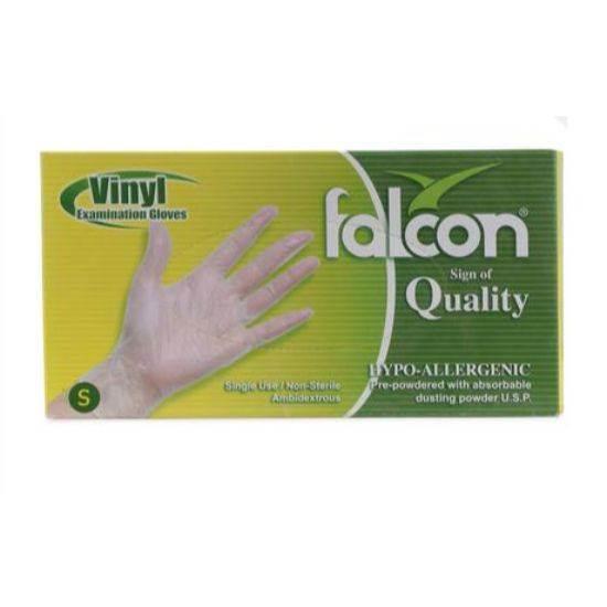 صورة Falcon Nylon Gloves Size Small Single Use , Non Sterile 100 x 10